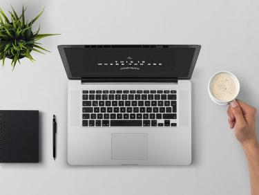 Laptop n coffee